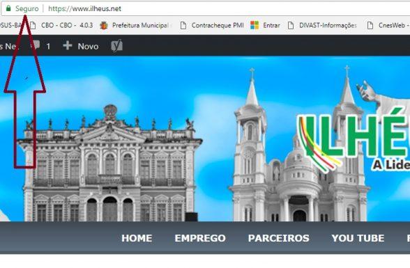 Cerca de 40% dos sites brasileiros não têm certificado de segurança, ILHÉUS.NET tem 6