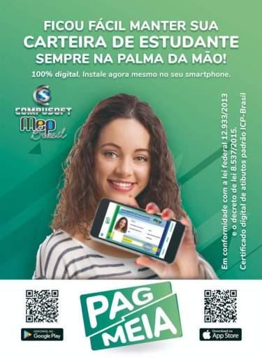 A @mepbrasil disponibiliza Carteira Estudantil que garante o direito a meia entrada em todo Brasil 6