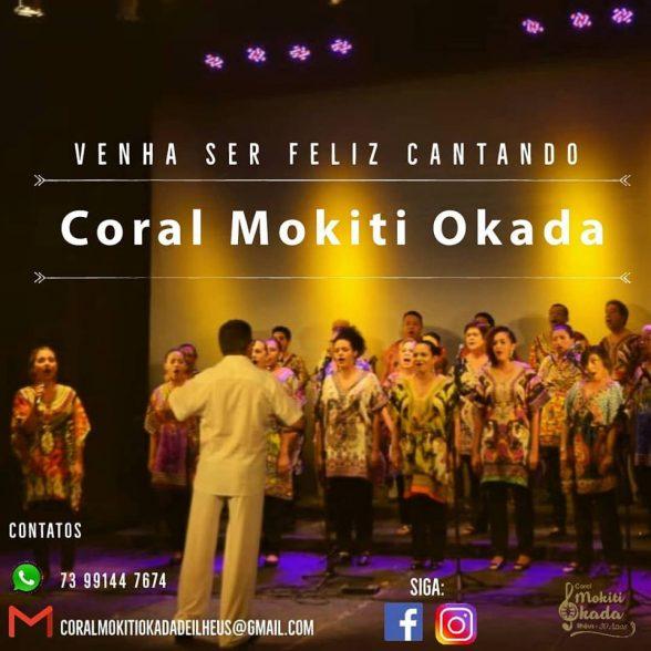 Coral Mokiti Okada de Ilhéus realiza audição para novos cantores dia 12 6