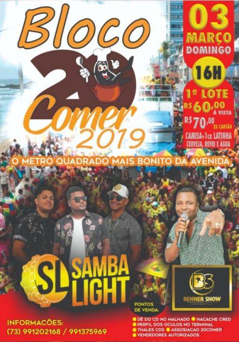 Bloco 20 Comer vai desfilar no Domingo de Carnaval em Ilhéus 4