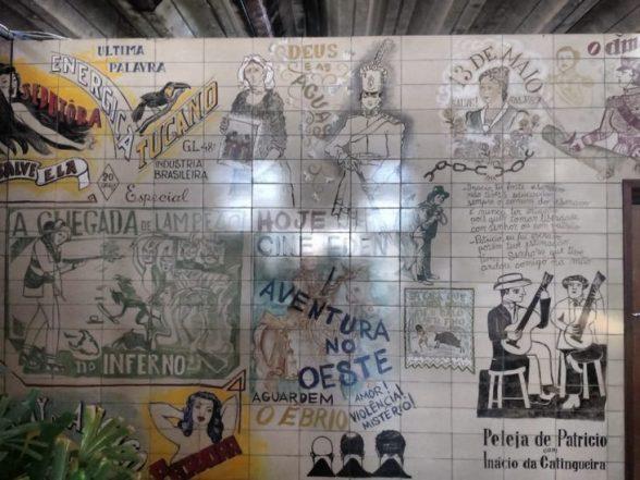 Patrimônio tombado, painel do artista plástico Lênio Braga é restaurado com acompanhamento do Ipac 2