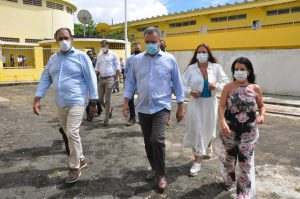 Visita IME - governador e prefeito - PMI Clodoaldo Ribeiro