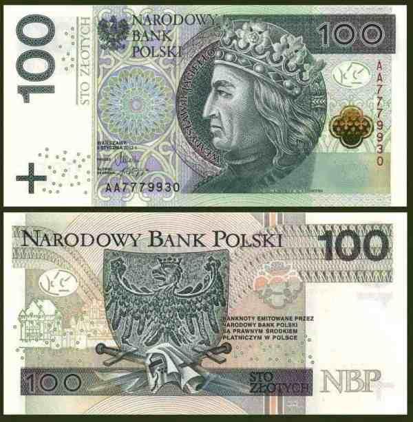 100 Zlotych 2012