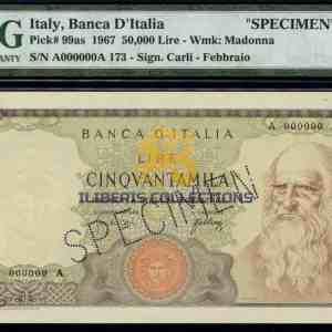 Italia 50000 Lire 1967 Campione