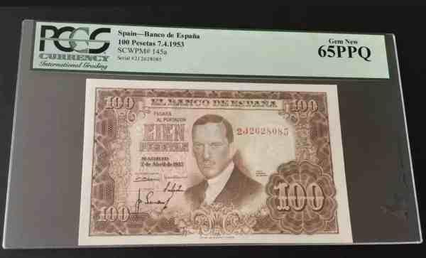 Spain 100 Pesetas 1953