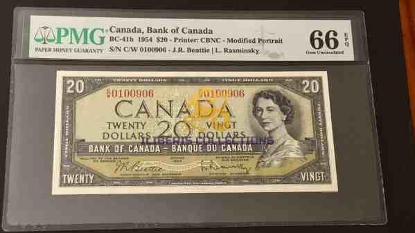 Canada 20 Dollars 1954