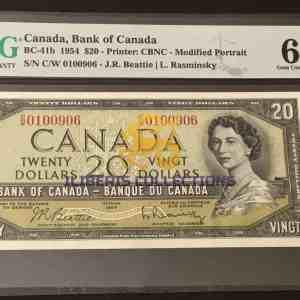 Buy Canada 20 Dollars 1954.