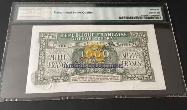 France 1000 Francs Marianne Specimen back