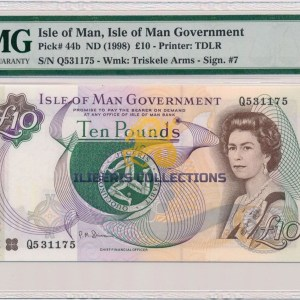 Isle Of Man 10 Pounds 1998. PMG 65 EPQ