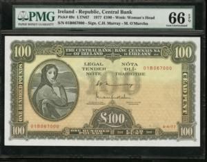 Ireland 100 Pounds 1977