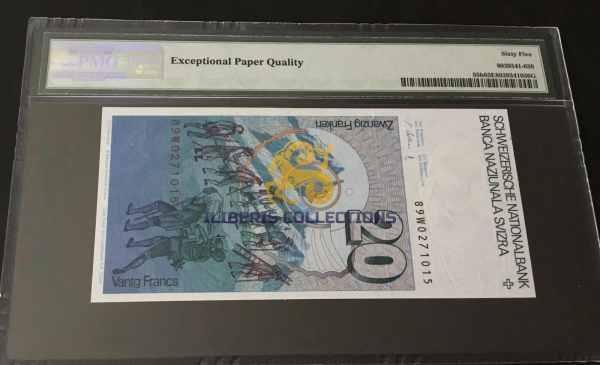 Switzerland 20 Franken 1989 bsack