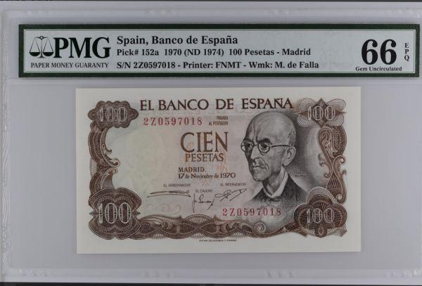 Spain 100 Pesetas 1970.