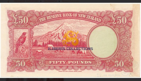 New Zealand 50 Pounds Hanna Specimen (Pick 162As). Uncirculated.