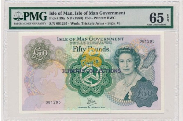 Isle of Man 50 Pounds 1983