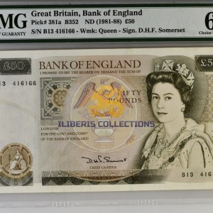 Great Britain 50 Pounds 1988.