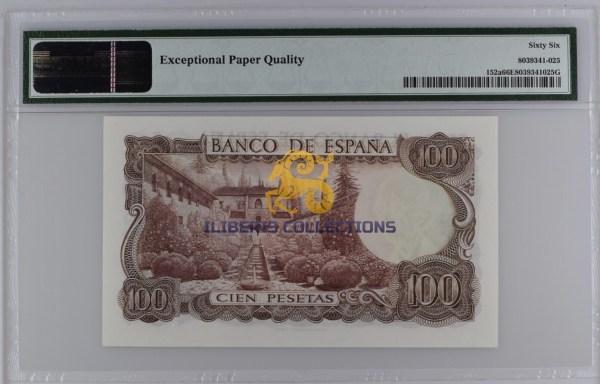 Spain 100 Pesetas 1970.back