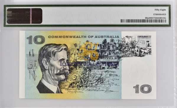 Australia 10 Dollars 1966. back