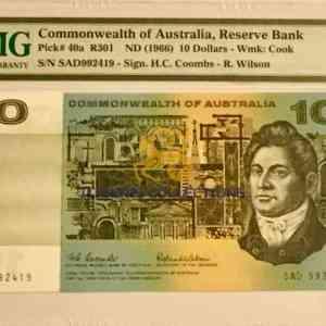 Australia 10 Dollars 1966.