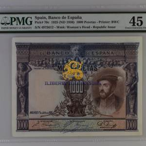 Spain 1000 Pesetas 1925.