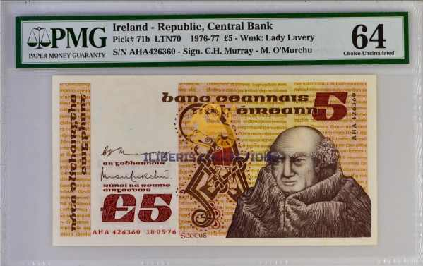Ireland 5 Pounds 1976.