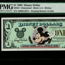 USA One Disney Dollar 1998. PMG 67 EPQ.