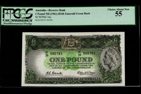 Australia 1 Pound 1961. R34b, PMG 55