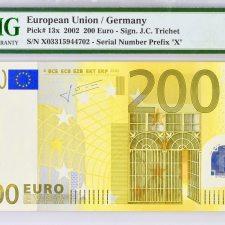 European Union 200€ Trichet (Germany). PMG 66 EPQ.