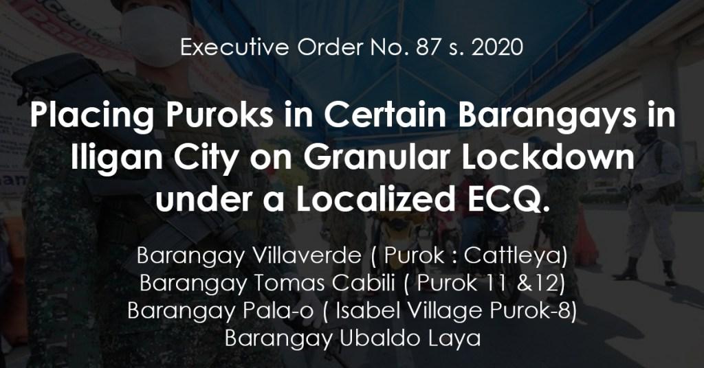 Placing Puroks in Certain Barangays