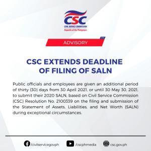 Civil Service Commission has extended the deadline