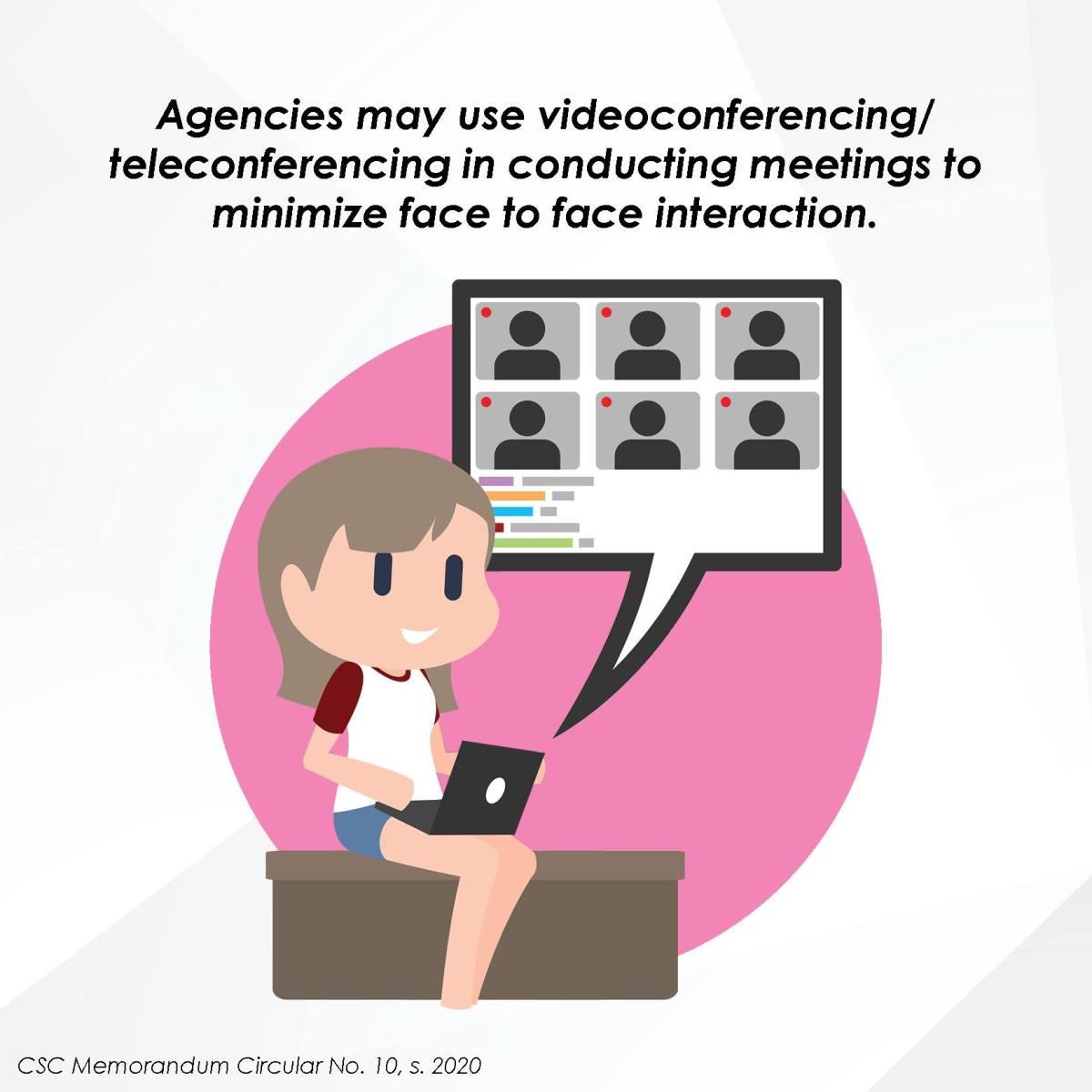 Agencies may use videoconferencing