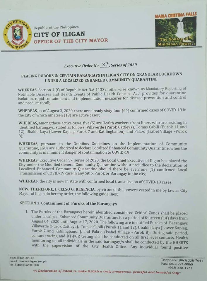 Executive Order No. 87 s. 2020 (1)