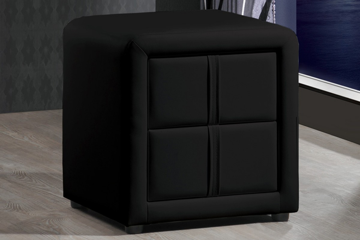 3 seater rattan effect mini corner sofa black cuir 2 places bedside table | find it for less