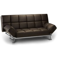 Avant-Garde Dark Brown Faux Leather Sofa Bed - Free Next ...