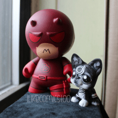 Daredevil Munny & Bullseye Boston Terrier