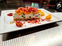 Cheesecake salata con speck croccante