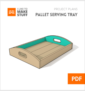 how to make diy pallet serving tray plans