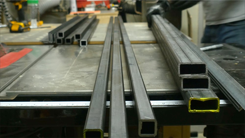 i gather some square tubing angle iron and 12 tubing from the steel yard