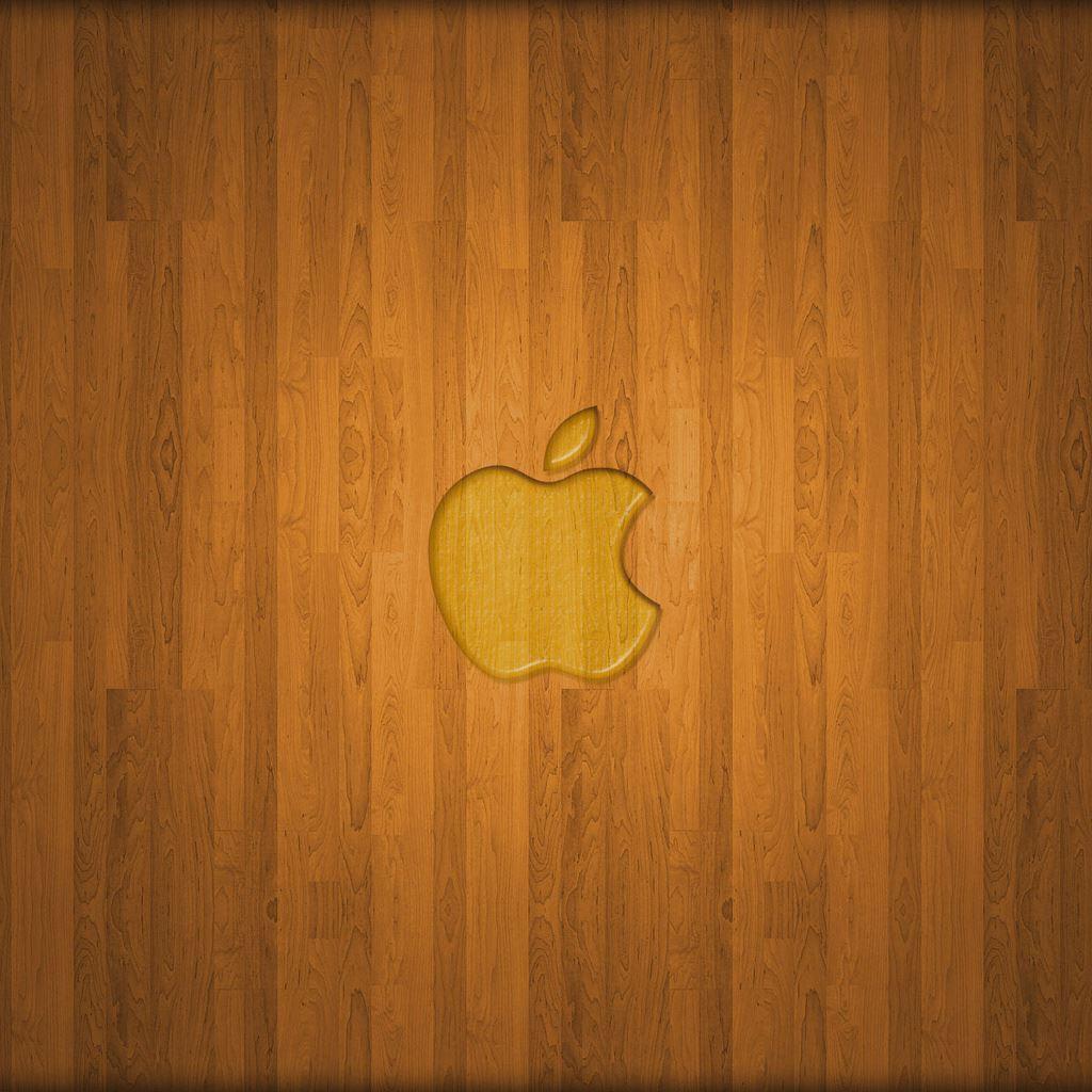 wooden apple logo ipad wallpaper download | iphone wallpapers
