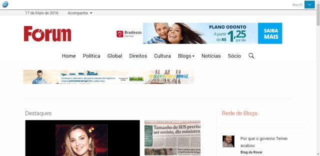 Revista Forum: uma coletânea de anúncios estatais