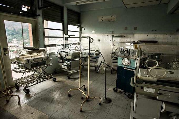 Imagem de um hospital estatal na Venezuela