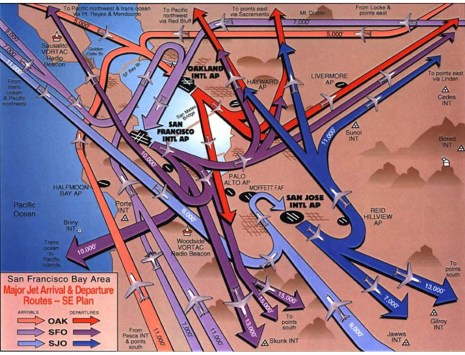 Bay Area Airport Routes