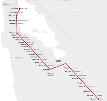 CalTrain $ PSF Map