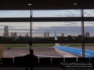 Sunrise in Buenos Aires Airport