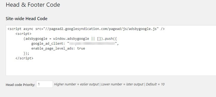 Disattivare Adsense per una pagina specifica header code