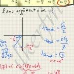 Matematik karmasik sayilar esas ergumenti bulurken trigonometrik degerler ve bolge isaretleri bilinmeli