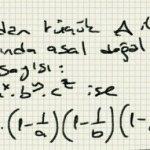 A dan küçük A ile aralarında asal doğal sayıların sayisi: