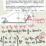 Carpma hızı sorulursa x ve y bilesenleri bulunur. Atış hareketinde x bileşeni herzaman aynıdır.