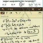 Yerel eksremum noktasının DEGERI f fonksiyonundan bulunur.