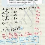 Geometrik dizi soru cozum. Sn dizilerin toplamı dir.