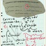 İfadeye t diyip denklem oluşturulur. Kısmı integralle sonuca gidilir.